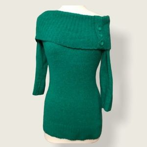 Le Chateau boat neck sweater emerald green size S